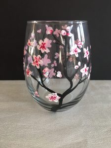 Paint 2 Cherry Blossom Glasses