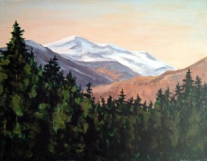 Mt Washington with Pines