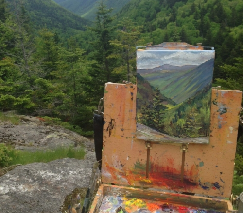 Beginner Plein Air (Outdoor) Painting: Mountains and Trees (adults & high school aged students)