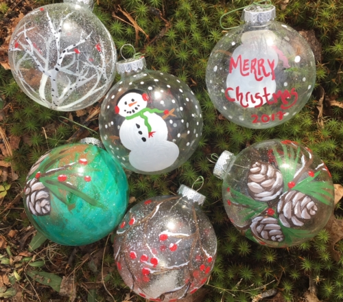 Paint 2 Glass Ornaments, Dec. 14, 3pm