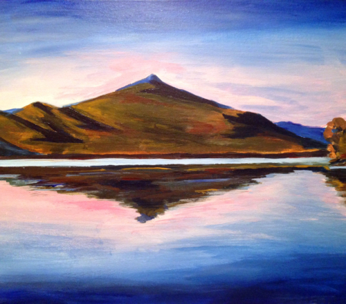 ZOOM & Paint! Chocorua Reflection, (with tracing) May 16