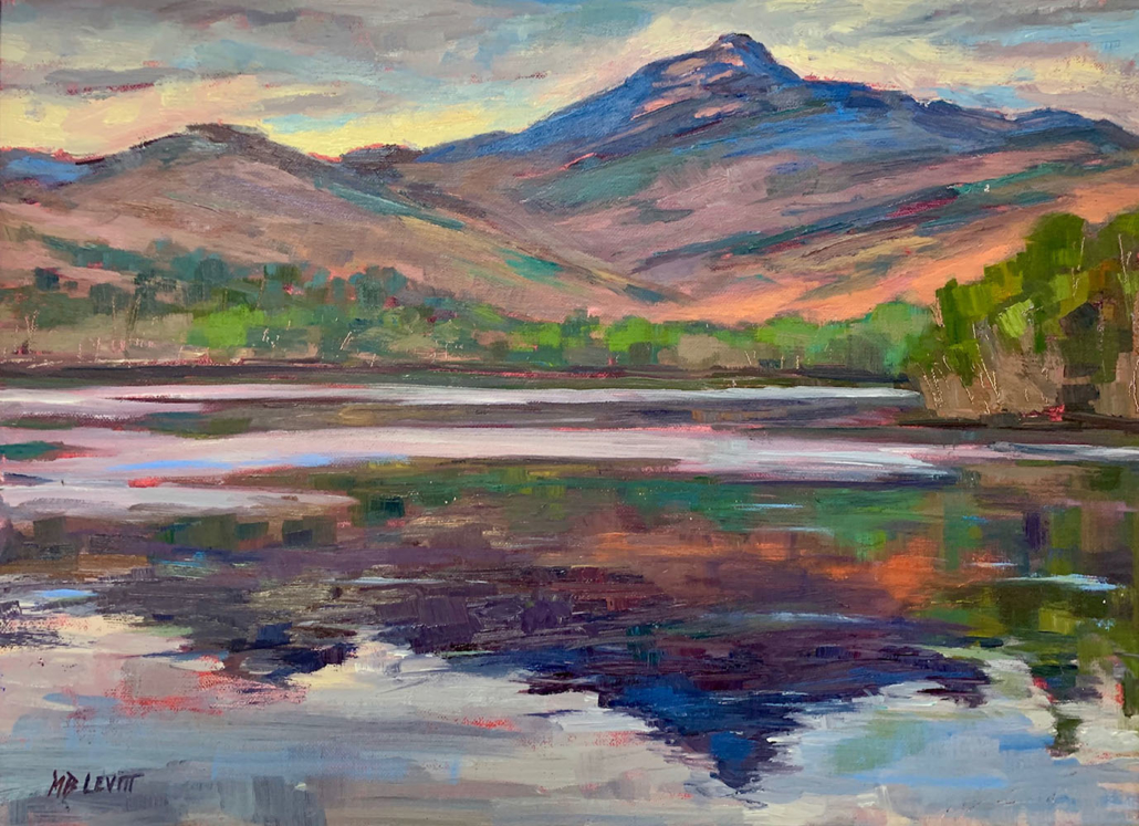 "Chocorua Reflection"" (12""x16"") oil by Melanie Barash Levitt, $760"