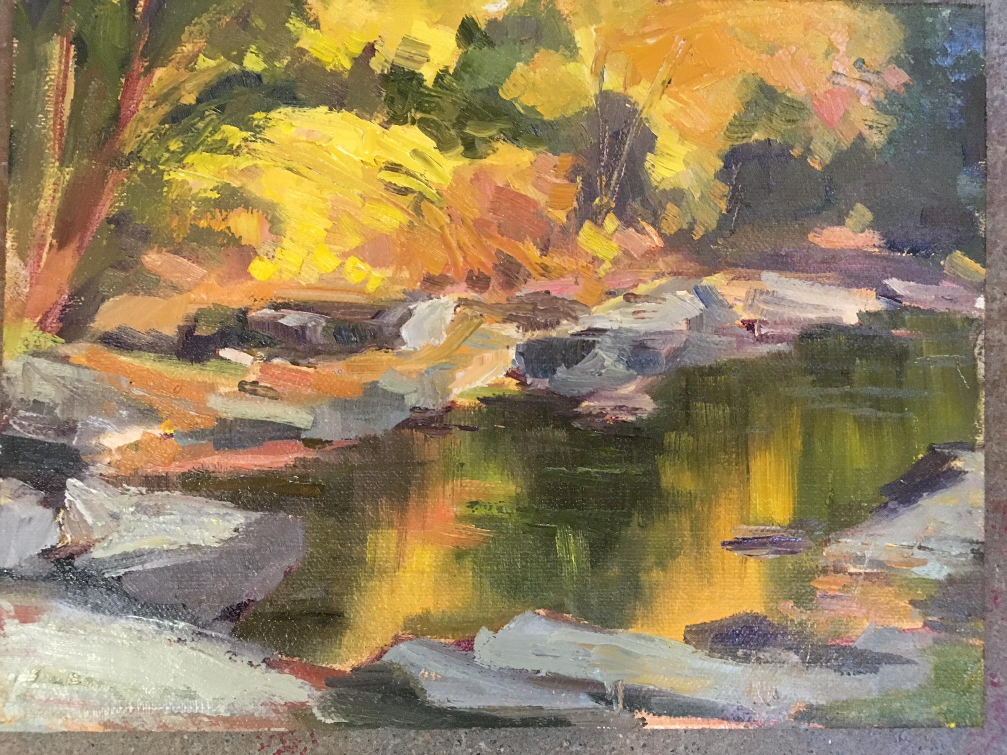 Yellow Reflection at the Falls