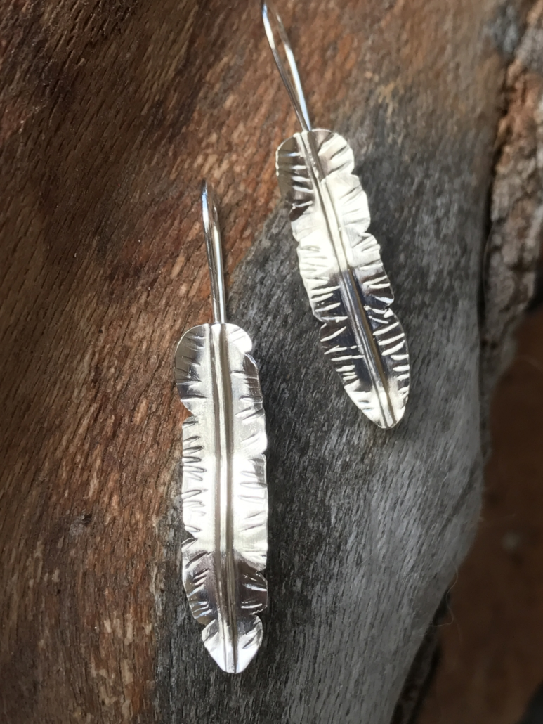 Sterling Feather Earrings/Laura Guptill