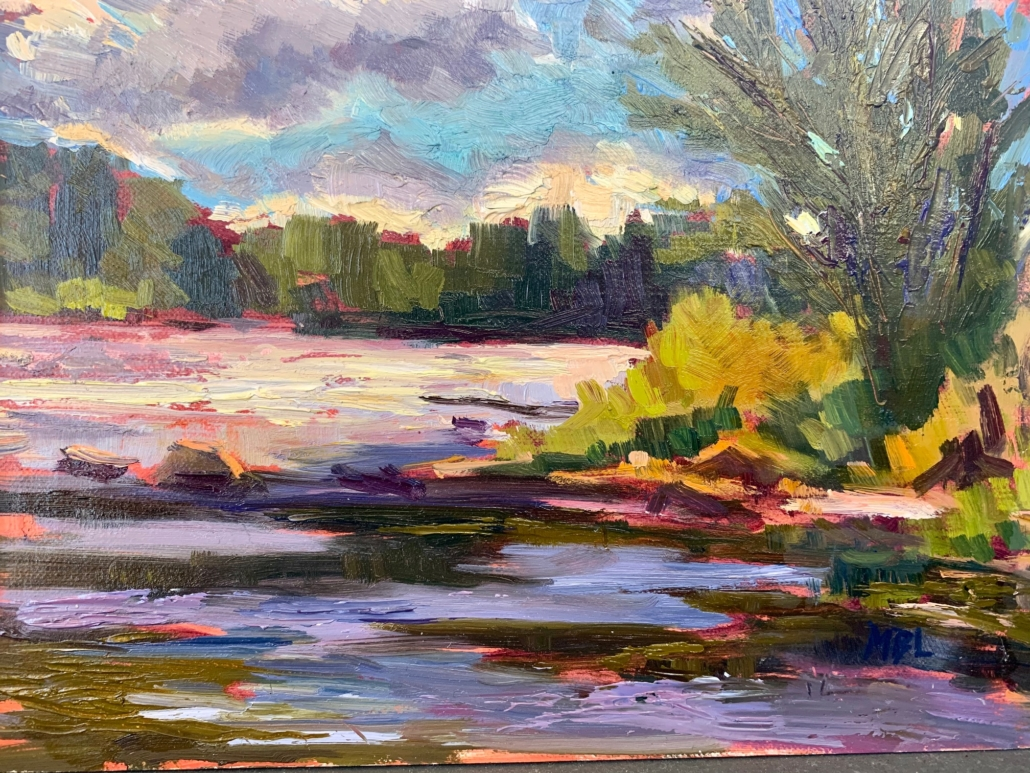 "Summer on the Saco, 6""x8"", $325 by Melanie Barash Levitt"