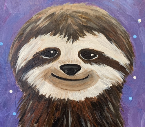 (KIDS!) ZOOM & Paint SLOTH! (Sunday afternoon!) May 17
