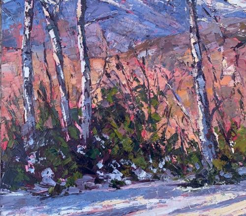 Beginner Winter Plein Air (Outdoor) Painting: Palette Knife Technique, Feb 6