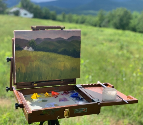 Summer! Beginner Plein Air (Outdoor) Painting: Brush & Palette Knife Technique