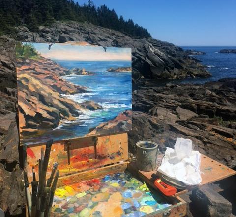 MONHEGAN ISLAND RETREAT: Plein Air Painting, Yoga, Hiking & Museum Tour